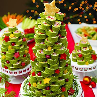 закуска на стол в виде новогодней елочки