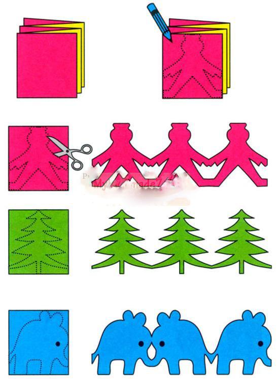 Гирлянды из бумаги на новый год своими руками фото