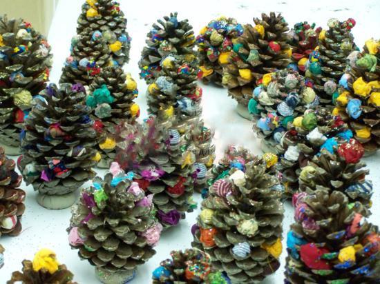 Поделки к новому году елочки из салфеток