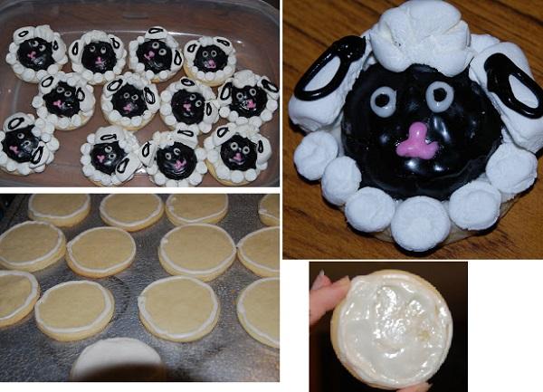 Печенье на Новый год 2015 в форме овцы