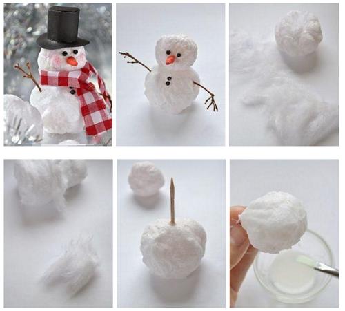 Как сделать снеговика из ваты своими руками фото 93