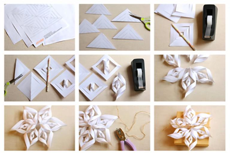 Снежинки объемные своими руками из бумаги подробно