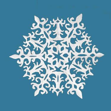 Распечатать схему для снежинки из бумаги