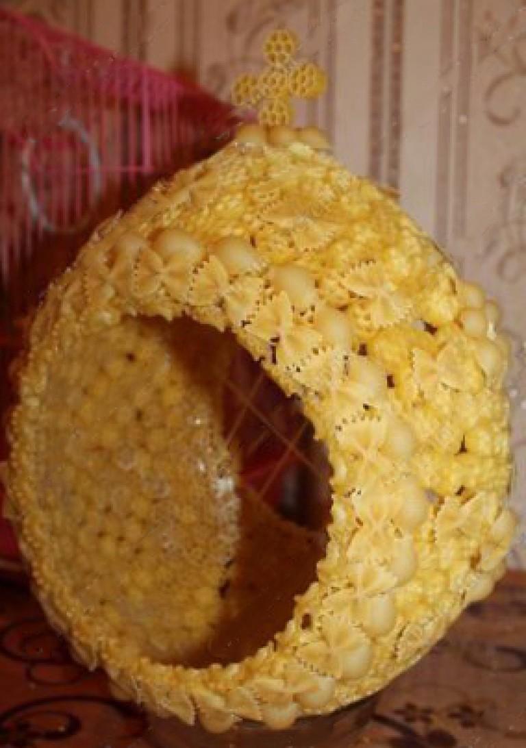 Пасхальные поделки из макарон