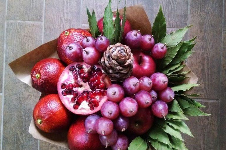 Букет из овощей и фруктов своими руками пошаговое фото для начинающих 69
