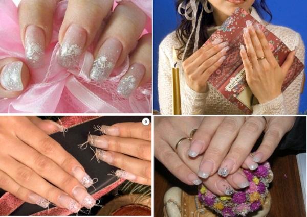 фото примеры новогоднего рисунка на ногтях
