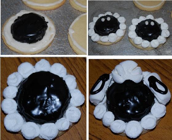 печенье в форме овечек на НГ 2015