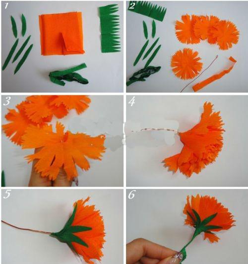 Цветы из бумаги своими руками пошаговое