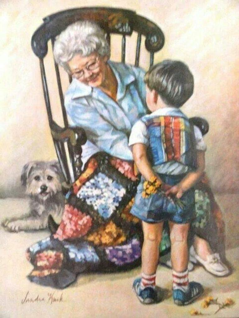Для мужчины, открытки бабушке с внуками